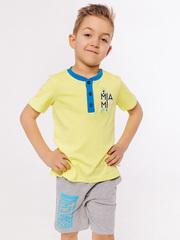 Футболка лимонного цвета для мальчиков с короткими рукавами купить
