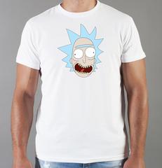 Футболка с принтом мультфильма Рик и Морти (Rick and Morty) белая 005