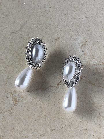 Серьги Элизабеф, серебряный цвет