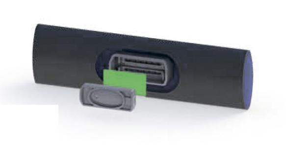 Подземная трубка с плоским эмиттером PC AS/ND (Ø 25 мм)