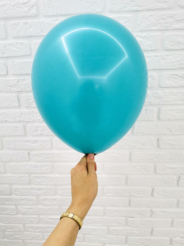 №19 Бирюзовый Гелиевый шар пастель 30см с обработкой