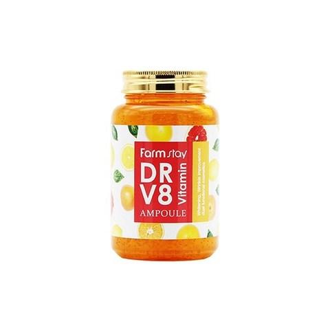Farm Stay DR-V8 Vitamin All-in-one ampoule Многофункциональная сыворотка Farmstay с витаминами, 250мл