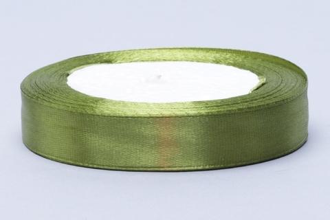 Лента атласная оливковая 15 мм