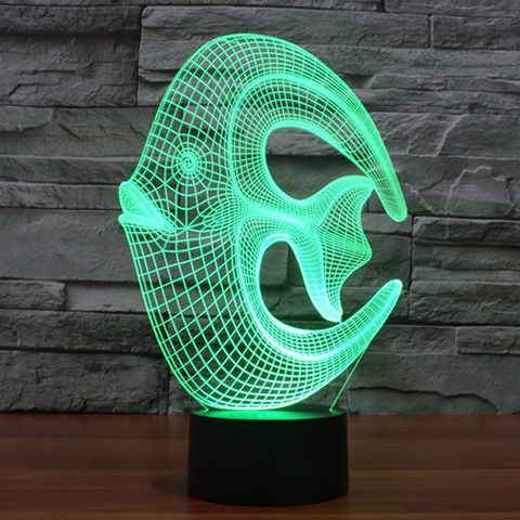 3D светильник Рыба-круг