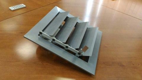 Решетка алюминиевая с гравитационными жалюзи регулируемая (600х600) 6060 серая (темнно серая)