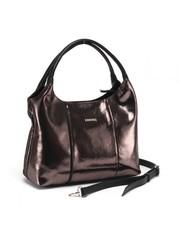 Класическая сумка из комбинированной кожи