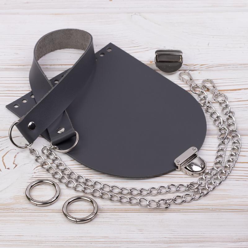 """Комплекты Комплект для сумочки Орео """"Серый"""" N2 IMG_7124.jpg"""