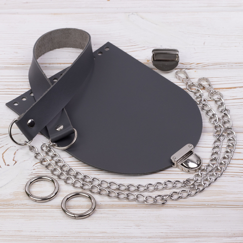 """Комплект для сумочки Орео """"Серый"""" N2"""