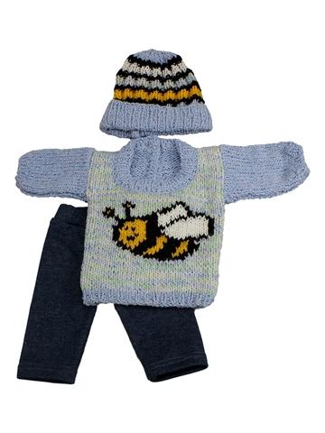 Вязаный комплект - Пчела. Одежда для кукол, пупсов и мягких игрушек.
