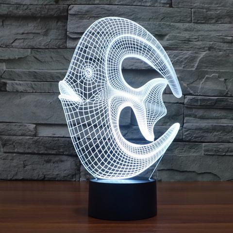 3D лампа Рыба-круг