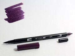 Маркер-кисть Tombow ABT Dual Brush Pen-679, темно-сливовый