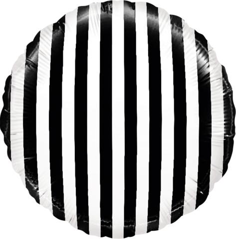 Шар-круг Полосатый, черно-белый, 45 см