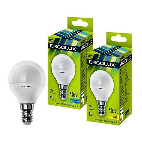 Лампа Ergolux LED-G45-7W-E14-3K шар (теплый свет)