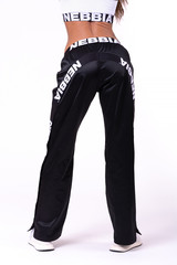 Брюки Nebbia Satin Street Style Bottom Up Track pants 685