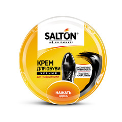 Крем для обуви из гладкой кожи SALTON в банке 50мл Черный new 262586732