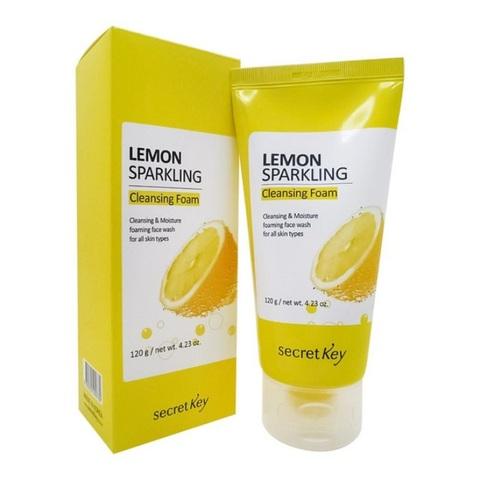 Secret Key Lemon Sparkling Cleansing Foam шипучая пенка для умывания с экстрактом лимона