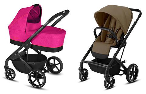 Детская коляска Cybex Balios S Fancy Pink + Balios S Lux BLK