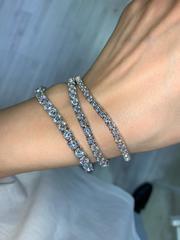 87541 -Теннисный браслет- дорожка из серебра с круглыми цирконами d 3мм