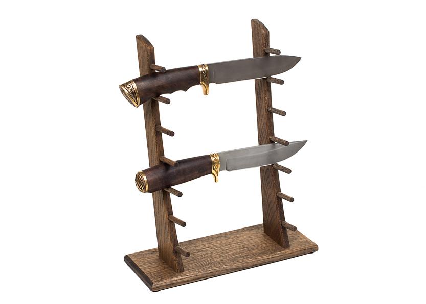 Стойка из дуба для 7 ножей - фотография
