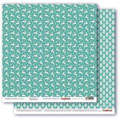 Бумага для скрапбукинга ScrapBerry's 180 гр/м принтованная двусторонняя 30,5*30,5 см. 1 лист.