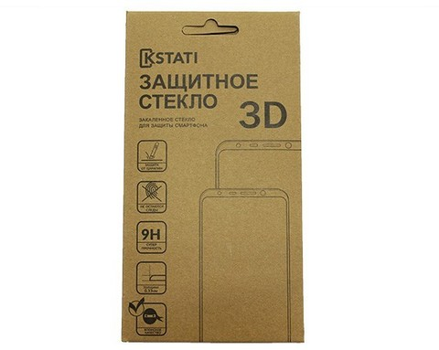 KSTATI  / Защитное стекло iPhone 6/6S 3D | черное
