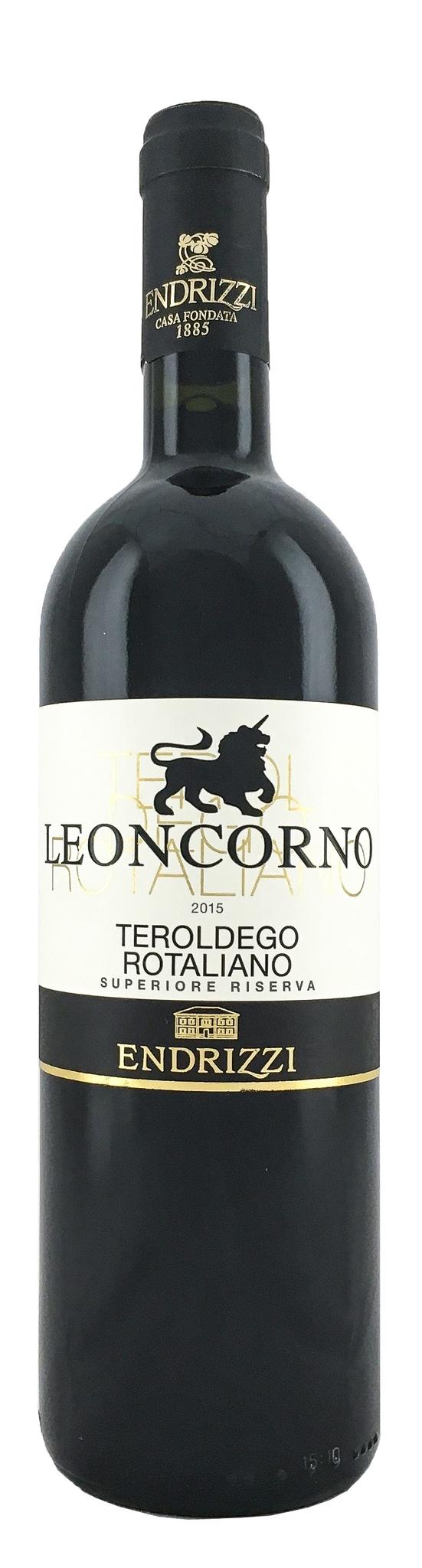 Вино Леонкорно Терольдего Роталиано Супериоре Ризерва сухое красное з.н.м.п рег.Трентино 0,75л.