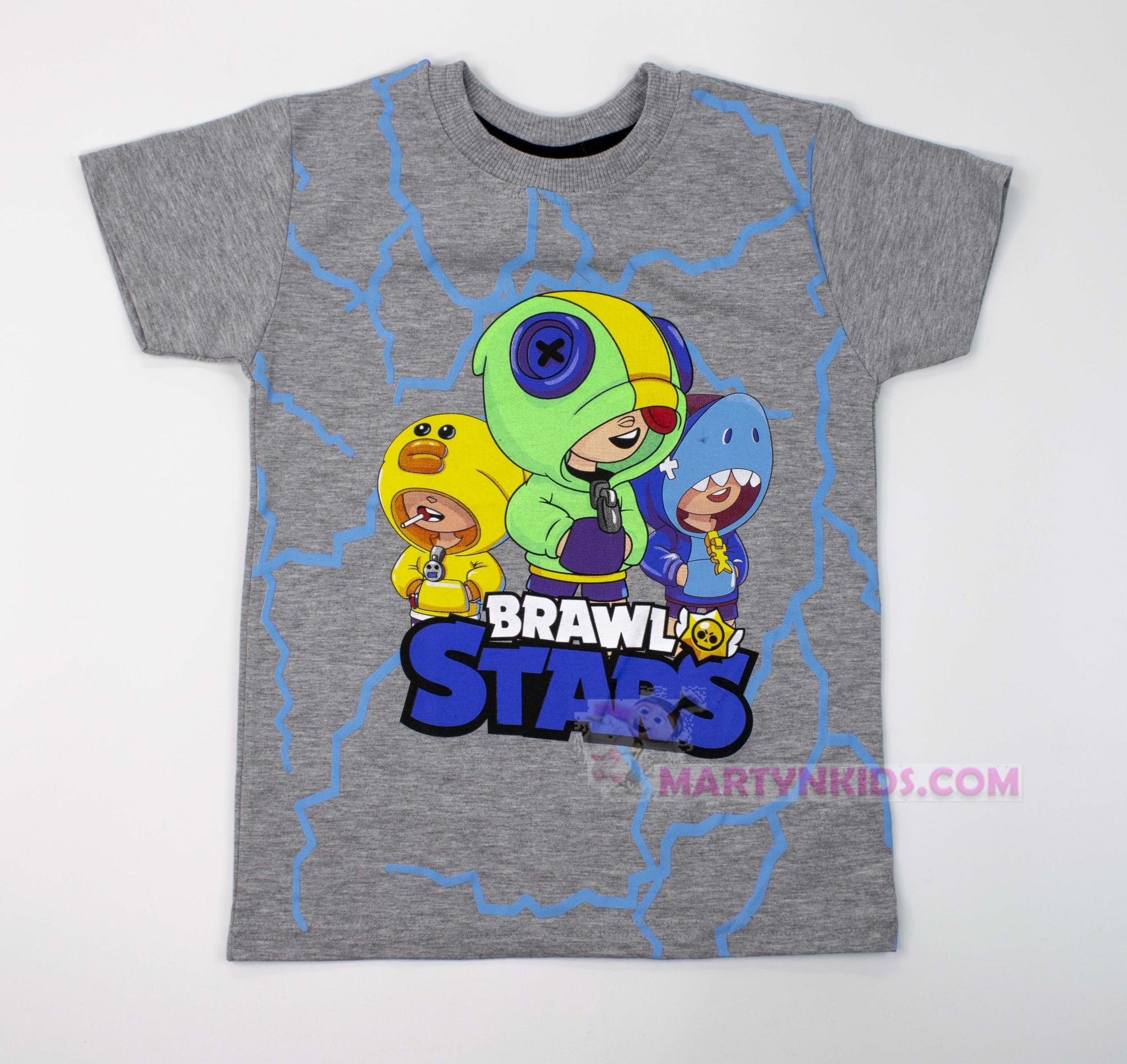 3605  футболка BRAWL STARS электро