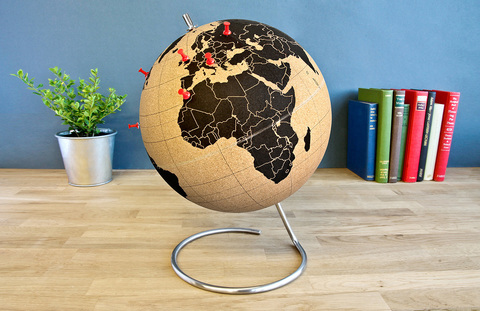 Малый пробковый глобус для путешественников