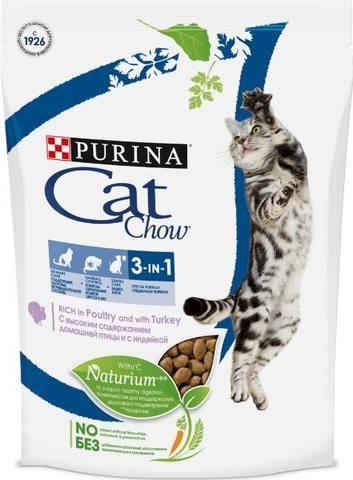 15 кг. PURINA CAT CHOW Сухой корм для кошек 3 в 1: профилактика МКБ, зубного камня, вывод шерсти Feline