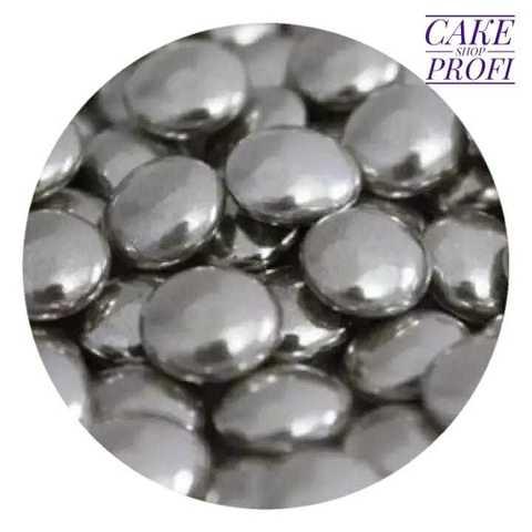 Посыпка Диски серебряные с шоколадом, 25г