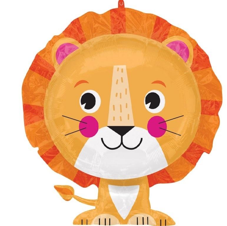 Фольгированный шар «Лев», 61 см.