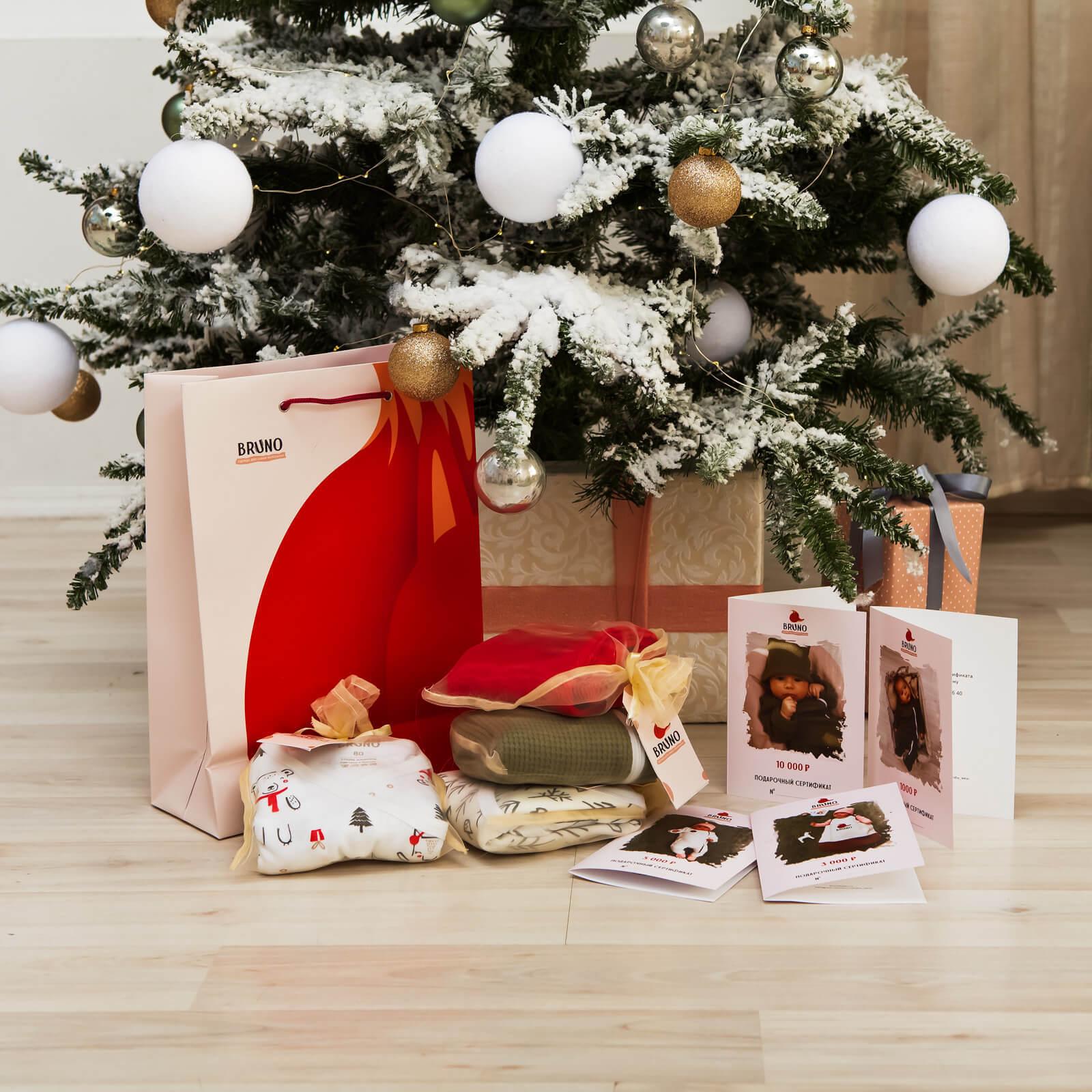 Новогодняя коллекция «Ёлочки», сет из 5 предметов