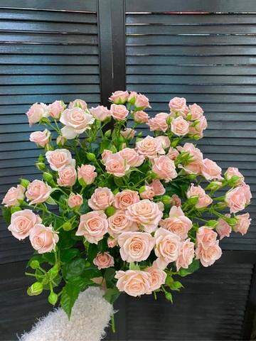 Букет из 9 кустовых роз #1916