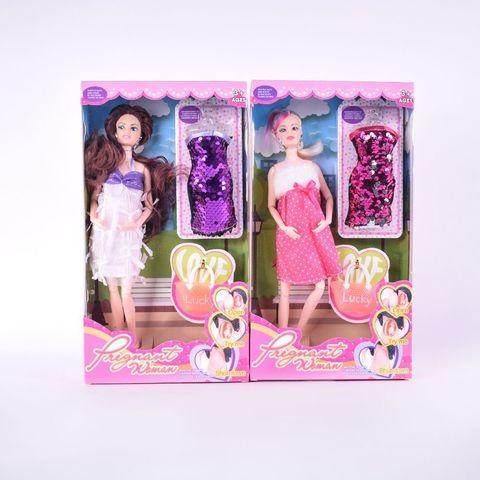 Кукла беременная + платье паетки