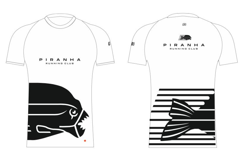 Футболка клубная GRi Piranha, белая, мужская