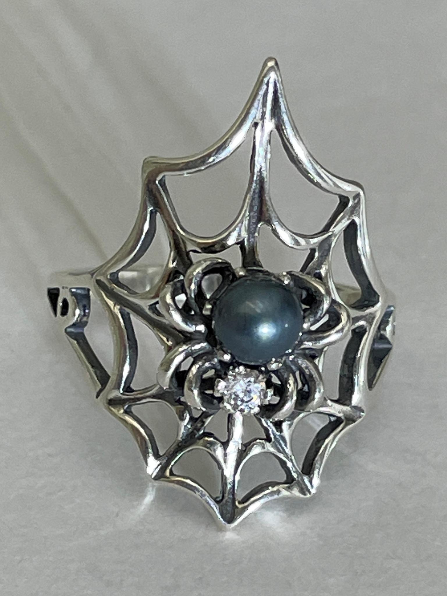 Паутина  (кольцо из серебра)