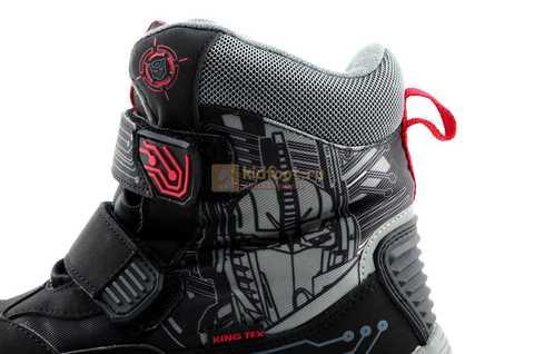 Зимние сапоги Трансформеры (Transformers) с мембраной для мальчиков, цвет черный. Изображение 12 из 13.