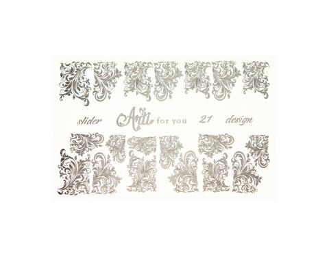 Фольга для дизайна ногтей цвет серебро 21 купить за 120руб
