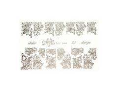 Фольга для дизайна ногтей цвет серебро 21