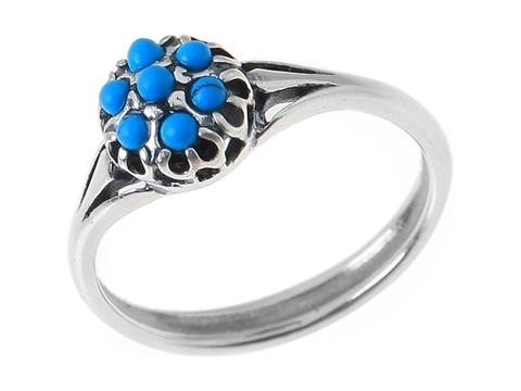 Кольцо с серебрением Ежевика