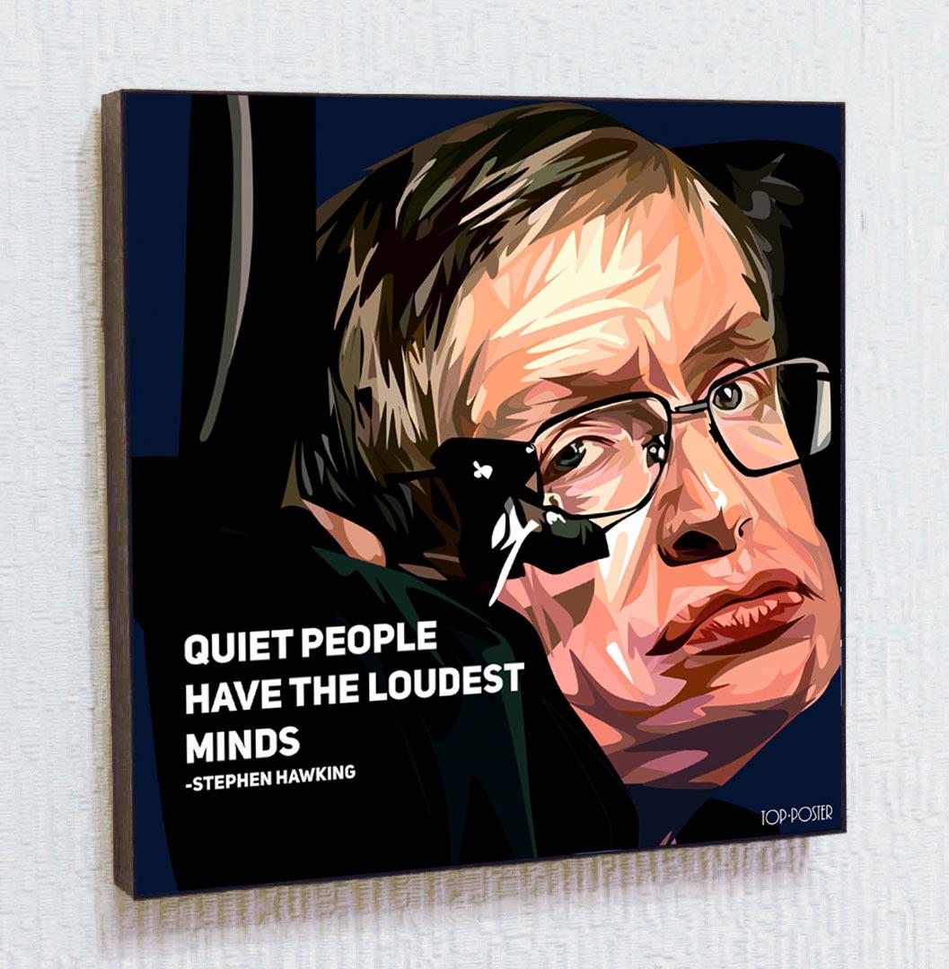 Картина ПОП-АРТ Стивен Хокинг портрет TOP POSTER