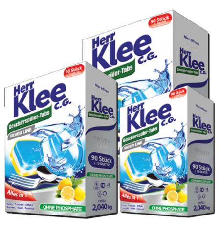 Таблетки для посудомоечных машин Klee Silver Line 102шт.