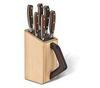 Набор Victorinox кухонный, 6 предметов: 5 ножей и вилка, в подставке из бука, коричневый
