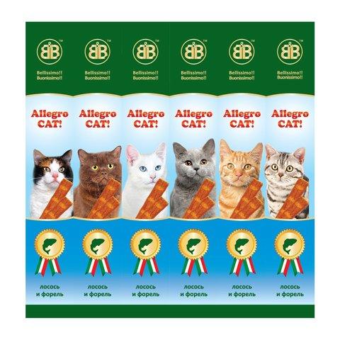 Аллегро Кэт колбаски для кошек (лосось/форель)