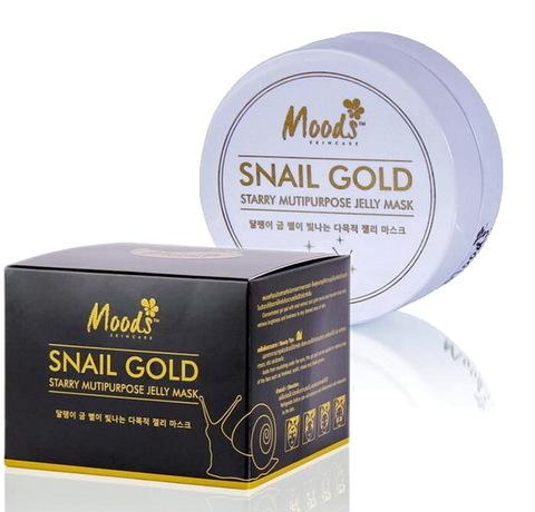 Патчи для глаз с Золотом и Муцином Улитки Moods Snail Gold Jelly Mask
