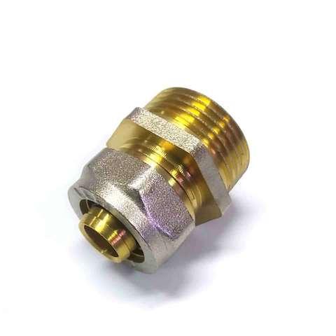 Муфта обжимная для металлопластиковых труб 16х3/4 наружная  резьба Valve