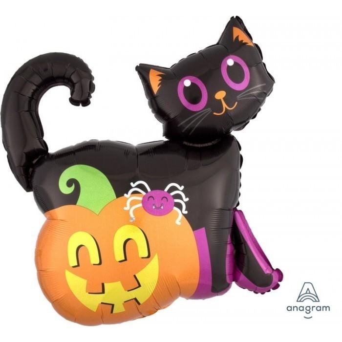 Кот черный и тыква