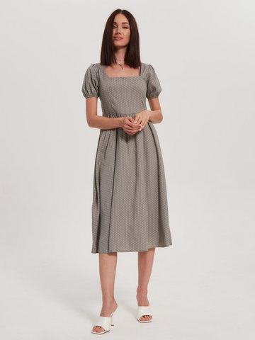 BM Платье Каре длин Оливка