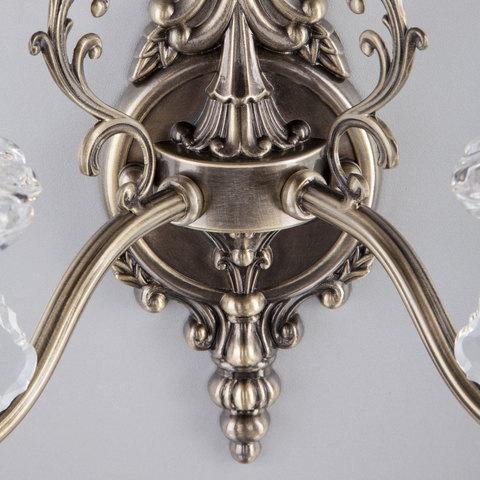 Бра с хрусталем 3281/2 античная бронза / прозрачный хрусталь