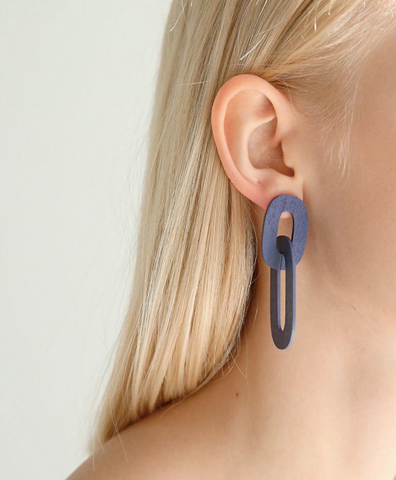 Серьги Alva Earrings in Blueberry